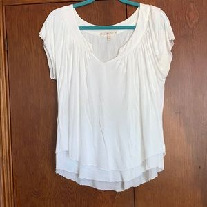 Joie white layered top